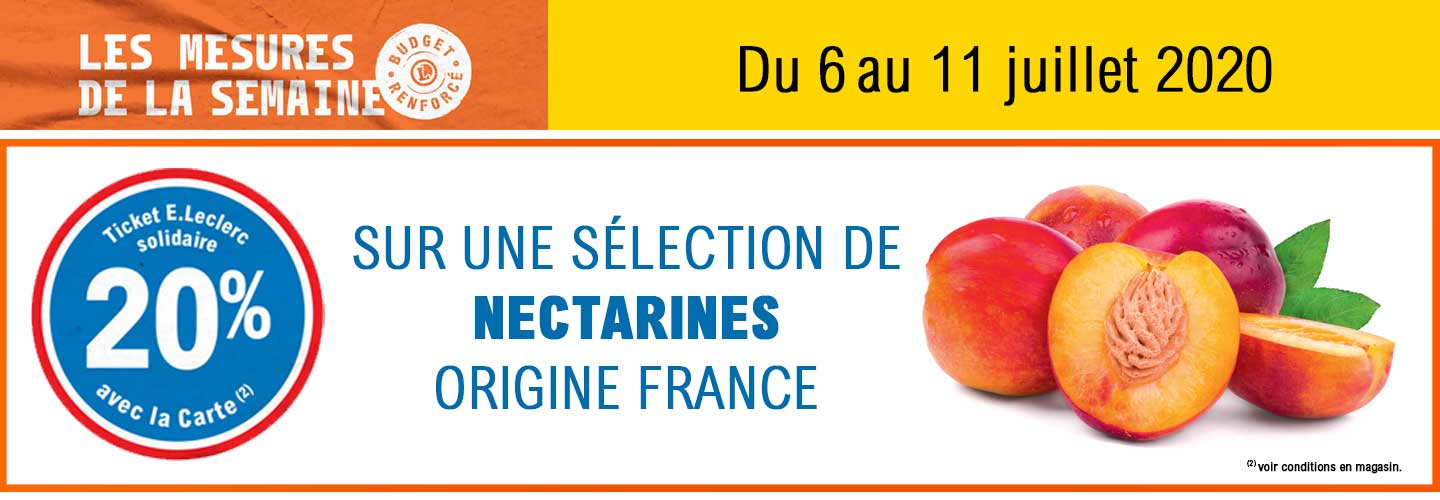 20 % en ticket solidaire sur une séelction de nactraines origines france